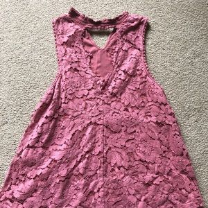 Altar'd State Pink Lacey Blouse